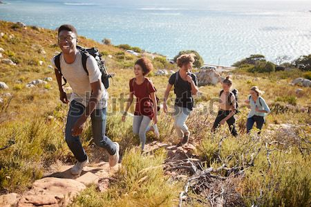 Young adults on country walk Stock photo © monkey_business