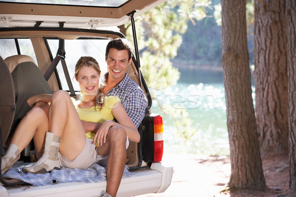 Young couple on day out in country Stock photo © monkey_business