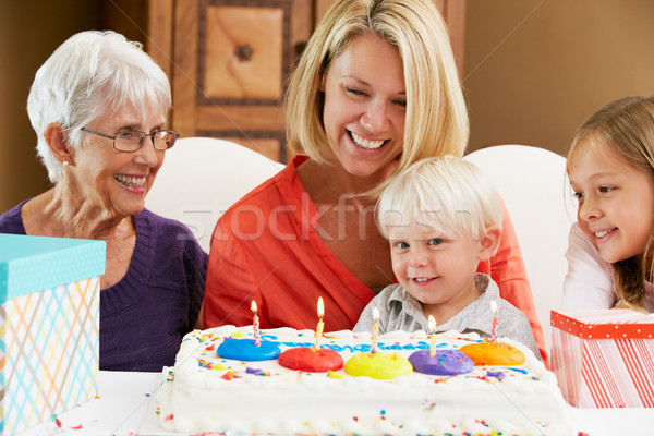 Family Celebrating Children's Birthday With Grandmother Stock photo © monkey_business