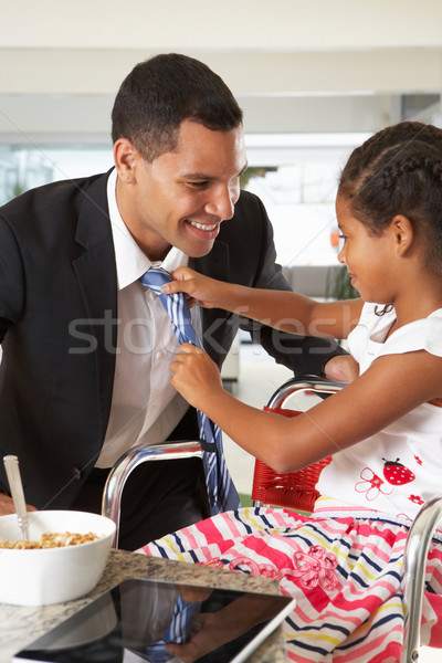 Daughter Straightens Father's Tie Before He Leaves For Work Stock photo © monkey_business