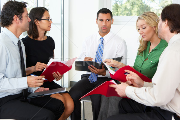 Businesspeople Having Informal Office Meeting Stock photo © monkey_business