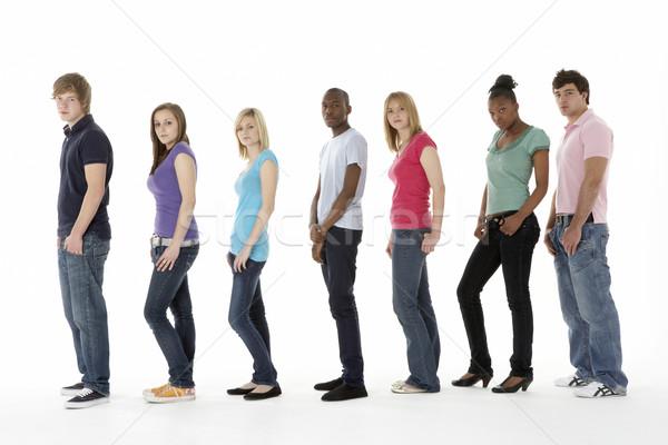 Grupo adolescente amigos estúdio feliz cor Foto stock © monkey_business