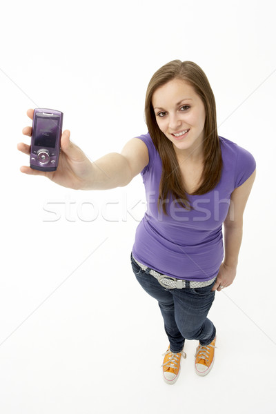 Teenage Girl With Mobile Phone Stock photo © monkey_business