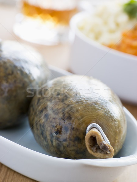 Whole Haggis with Neeps Tatties and Whiskey Stock photo © monkey_business