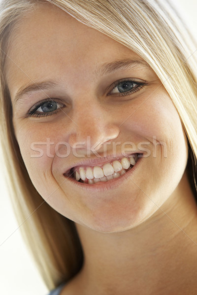 Portré tinilány mosolyog lány arc gyerekek Stock fotó © monkey_business