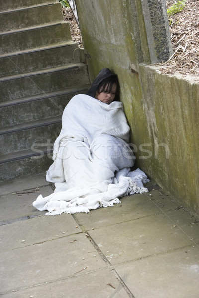 Homeless Girl Sleeping Rough Stock photo © monkey_business
