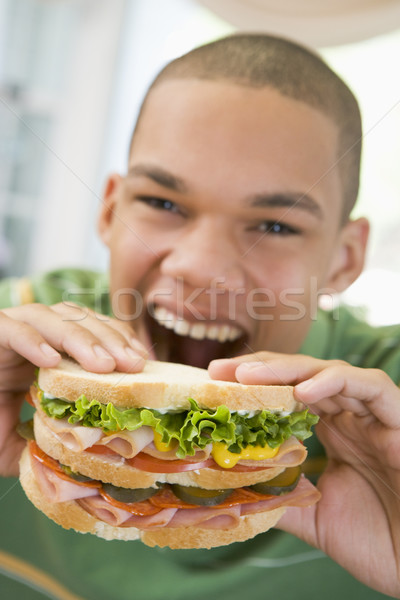 Teenage Boy Eating Sandwich Stock photo © monkey_business