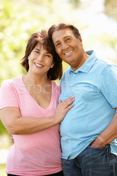 Senior latino paar buitenshuis man zon Stockfoto © monkey_business