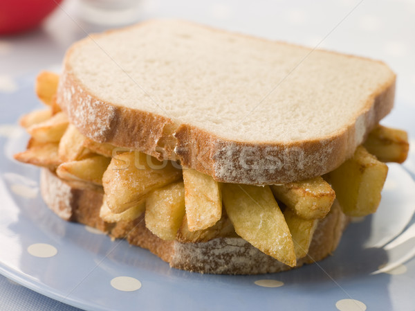 Chip Sandwich on White Bread Stock photo © monkey_business