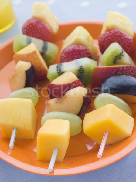 Gyümölcs étel gyerekek főzés ananász friss Stock fotó © monkey_business