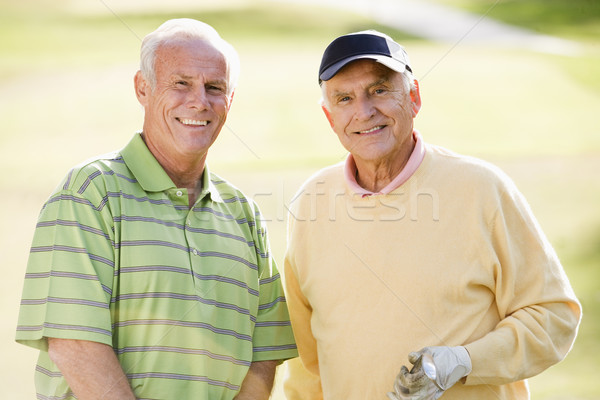 Stock photo: Man, Woman, Couple, Golf, Golf Course, Smiling, Senior Adult, Go
