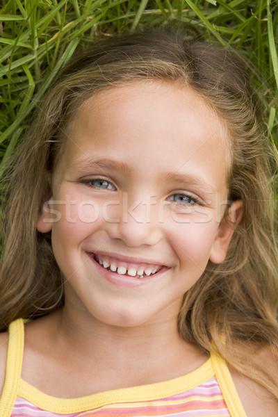 Giovane ragazza erba ragazza bambini bambino Foto d'archivio © monkey_business