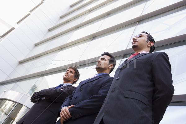 Stock fotó: Csoport · üzletemberek · kívül · iroda · modern · irodaház