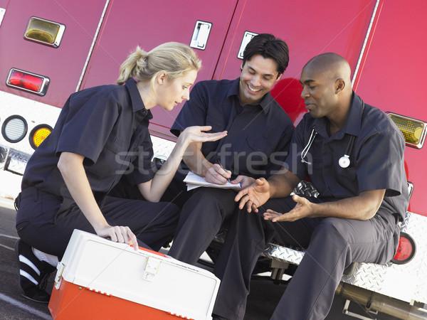 üç evrak oturma hastane Stok fotoğraf © monkey_business