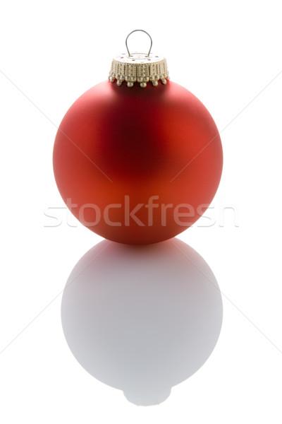 Stok fotoğraf: Kırmızı · noel · ağacı · önemsiz · şey · beyaz · Noel · tatil