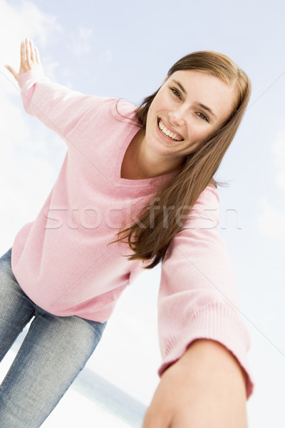 Young woman relaxing outside Stock photo © monkey_business