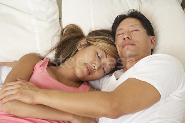 Stockfoto: Bed · man · portret · mannelijke
