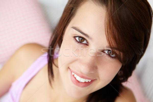 Genç kız kafa omuzlar genç gençler gençlik Stok fotoğraf © monkey_business