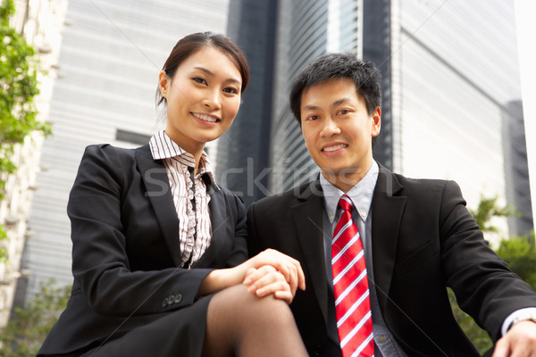 Portrait Of Chinese Businessman And Businesswoman Outside Office Stock photo © monkey_business