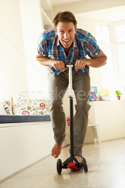 человека верховая езда гонка улыбаясь Сток-фото © monkey_business