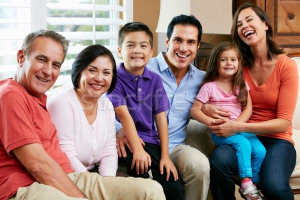 Portré többgenerációs család család gyerekek férfi nők Stock fotó © monkey_business