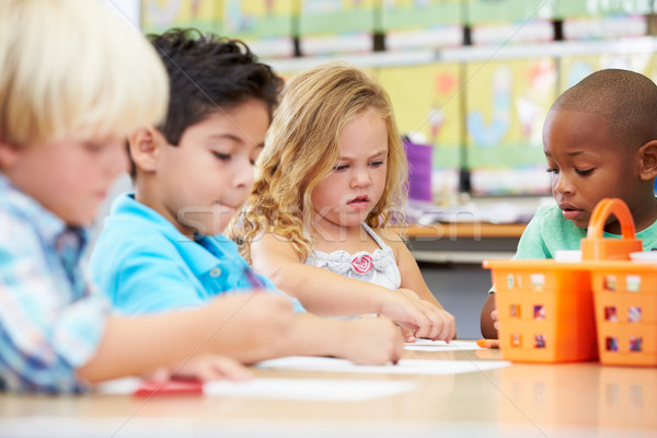 Group Of Elementary Age Children In Art Class Stock photo © monkey_business