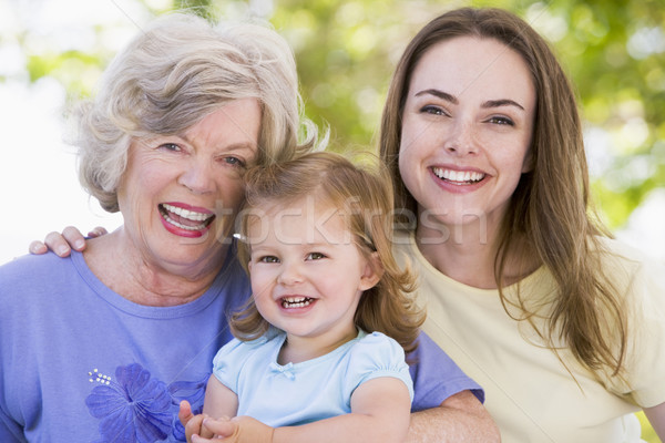 Grandmother with adult daughter and grandchild in park Stock photo © monkey_business