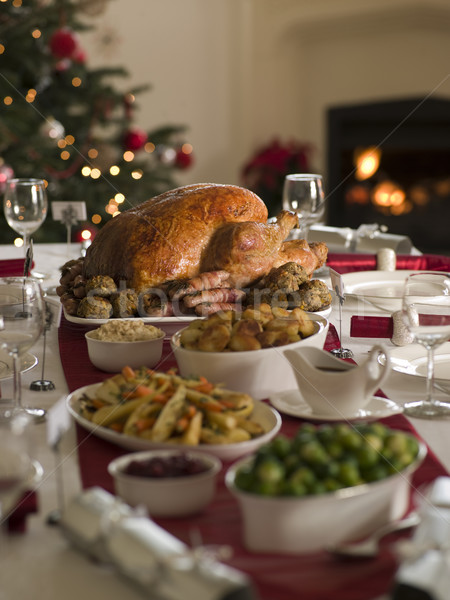 Roast Turkey Christmas Spread Stock photo © monkey_business