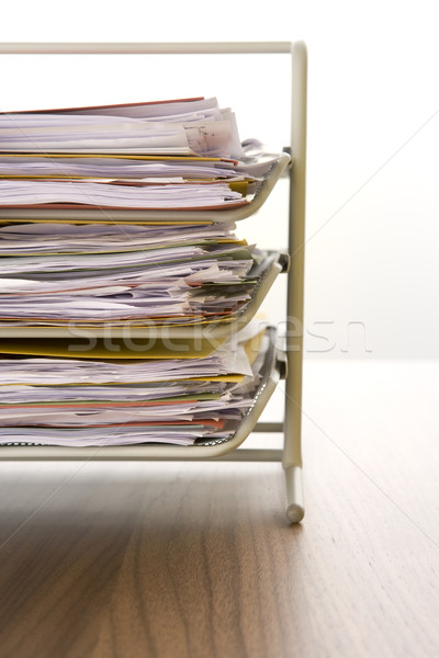 A Stack Of Paperwork Sitting In A Tray Stock photo © monkey_business