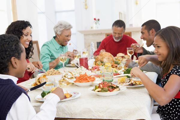 Família juntos natal jantar tabela Foto stock © monkey_business