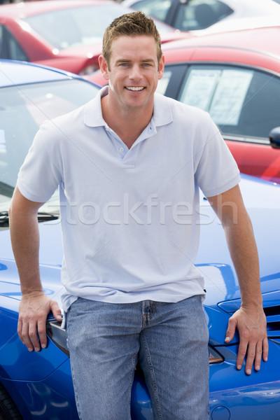 Stok fotoğraf: Adam · yeni · araç · araba · mutlu · genç