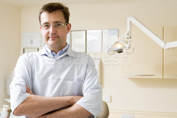 Stock photo: Dentist in exam room