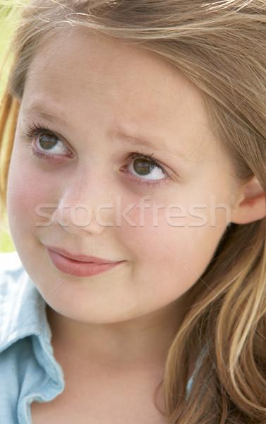 Portrait Of Pre-Teen Girl Looking Unsure Stock photo © monkey_business