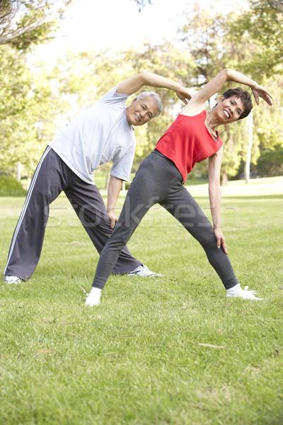 Senior Couple Exercising In Park Stock photo © monkey_business