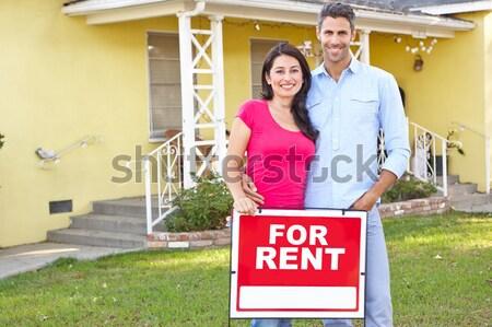 Agent immobilier travaux maison homme jardin travail Photo stock © monkey_business