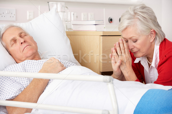 Senior woman with seriously ill husband in hospital Stock photo © monkey_business