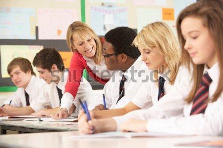 Chłopca szkoły klasy uśmiechnięty dzieci Zdjęcia stock © monkey_business