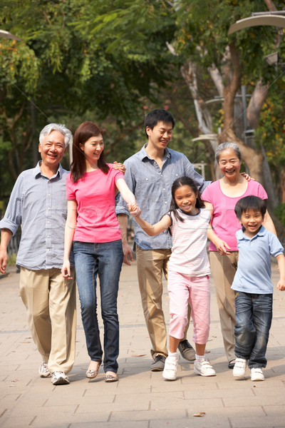 Portrait Of Multi-Generation Chinese Family Walking In Park Toge Stock photo © monkey_business