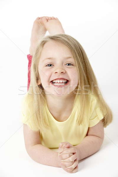 Jeune fille estomac studio enfants heureux enfant Photo stock © monkey_business