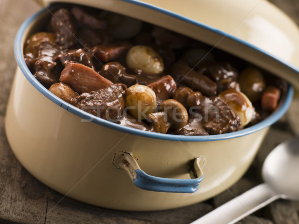 Casserole Dish With Beef Bourguignonne Stock photo © monkey_business