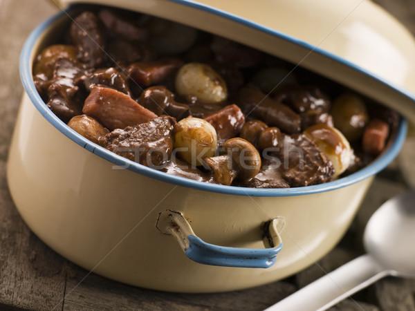Naczyń wołowiny posiłek francuski przepis sztuka kulinarna Zdjęcia stock © monkey_business
