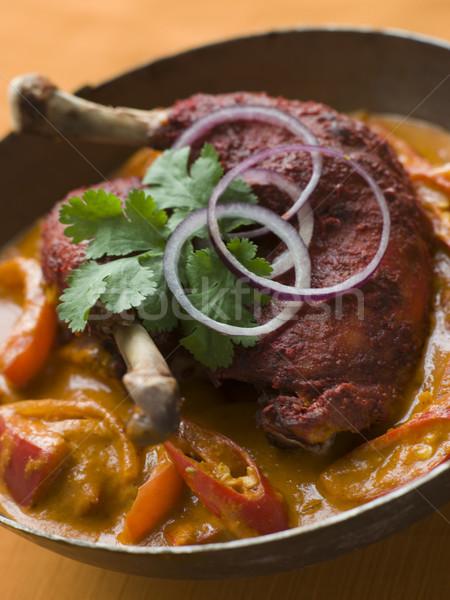 Dish of Makhani Chicken Stock photo © monkey_business