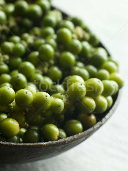 Green Peppercorns on the vine Stock photo © monkey_business