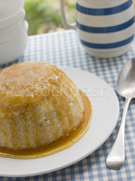 Steamed Syrup Sponge with a jug of Custard Stock photo © monkey_business