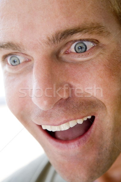 Foto stock: Cabeza · tiro · hombre · sonriendo · cara · feliz