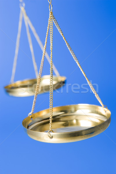 Traditional Gold Scales Stock photo © monkey_business