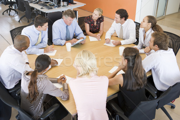 在庫 会議 ビジネス 女性 男性 グループ ストックフォト © monkey_business