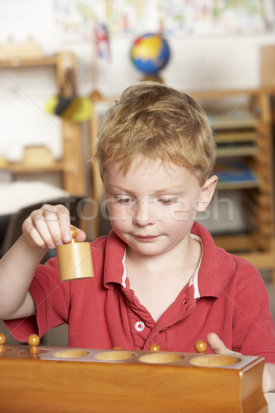 Young Boy Playing at Montessori/Pre-School Stock photo © monkey_business