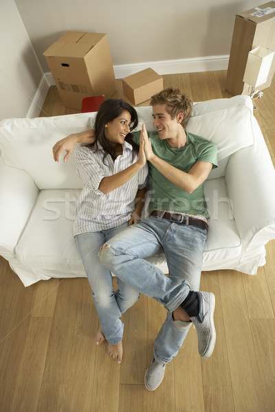 Couple moving into new home Stock photo © monkey_business