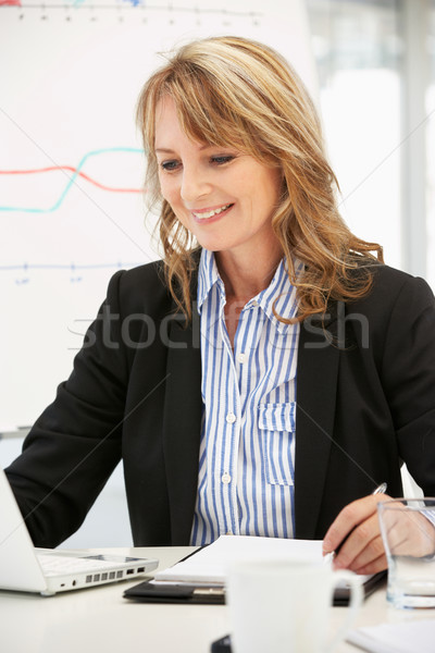 Mid age businesswoman at work Stock photo © monkey_business
